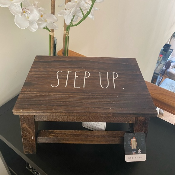 "Rae Dunn ""STEP UP"" Stool"